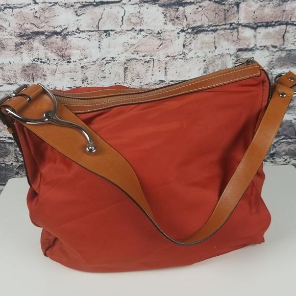 Lauren Ralph Lauren Handbags - Ralph Lauren Farringdon Orange Saddle Purse